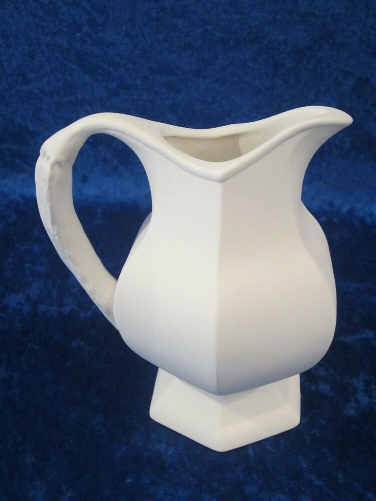 Ready to paint ceramic bisque creamer unpainted u paint for Paint and pottery