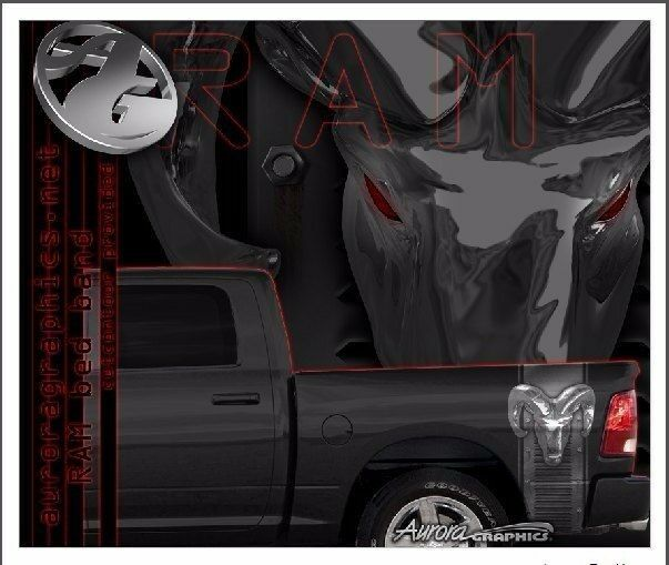 Dodge Ram Truck Bed Band Vinyl Graphic Striping Set Ebay