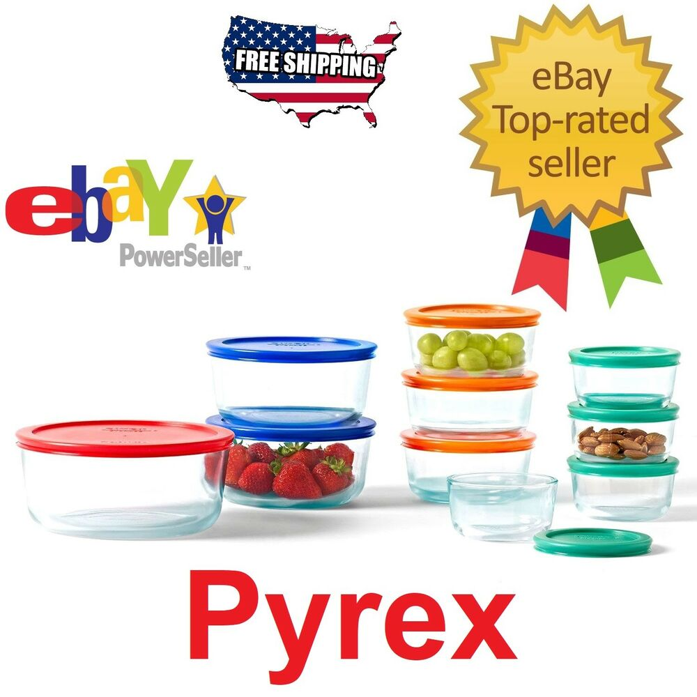 Pyrex 20 Piece Kitchen Glass Food Storage Set Lunch Box Container Microwave  Safe 621145479201 | EBay