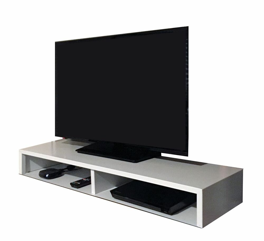 tabletop tv stand for flat screen white rizervue ebay. Black Bedroom Furniture Sets. Home Design Ideas
