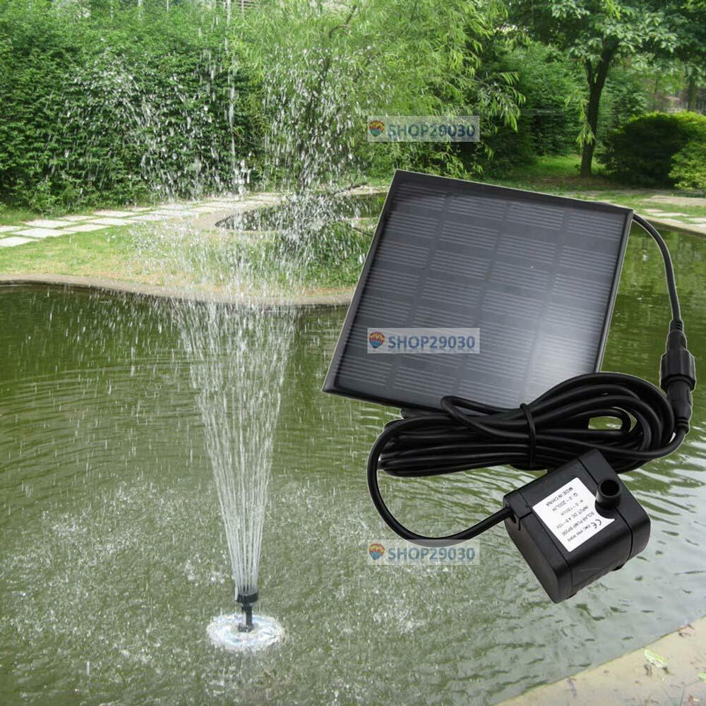 Solar water pump power panel kit fountain pool garden pond for Garden pond kit