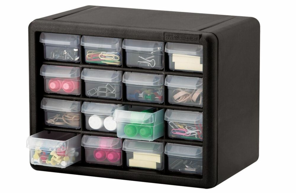 16 Drawer Small Parts Storage Cabinet Tools Organizer Bin