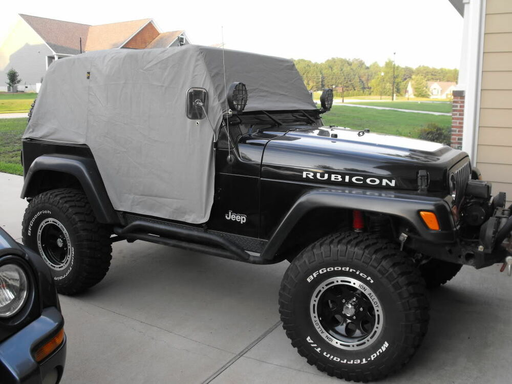1992 2006 jeep wrangler cab trail cabin cover with door flap gray ebay. Black Bedroom Furniture Sets. Home Design Ideas