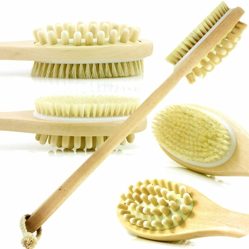 how to clean a dry body brush