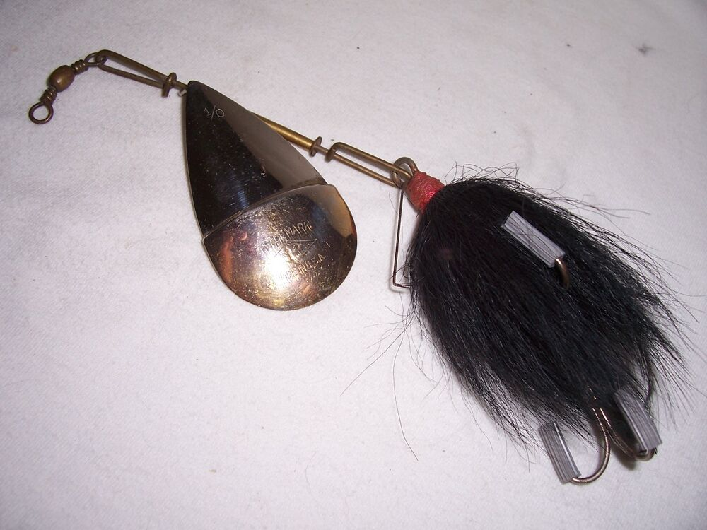 Vintage pflueger 1 0 diamond p spinner fishing lure ebay for Vintage fishing lures ebay