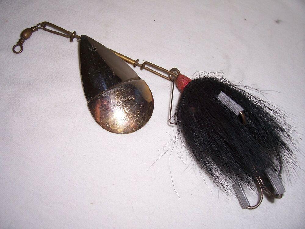Vintage pflueger 1 0 diamond p spinner fishing lure ebay for Spinner fishing lures