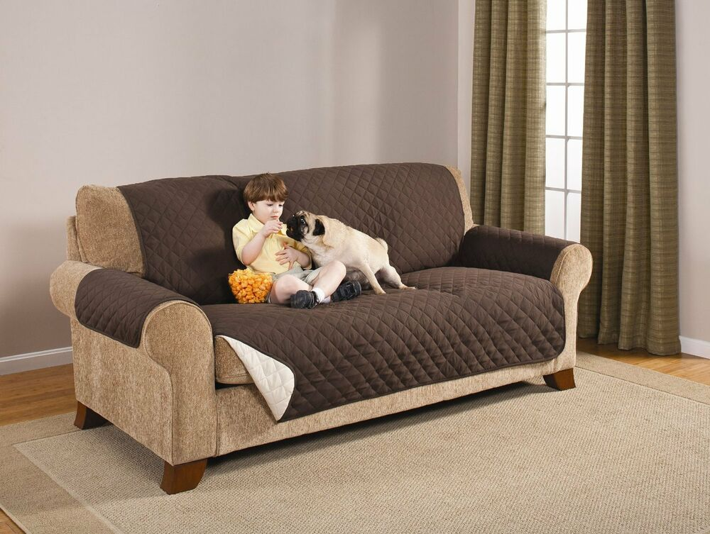 Premium Reversable Pet Dog Couch Sofa Furniture Protector Cover Coffee Tan Ebay