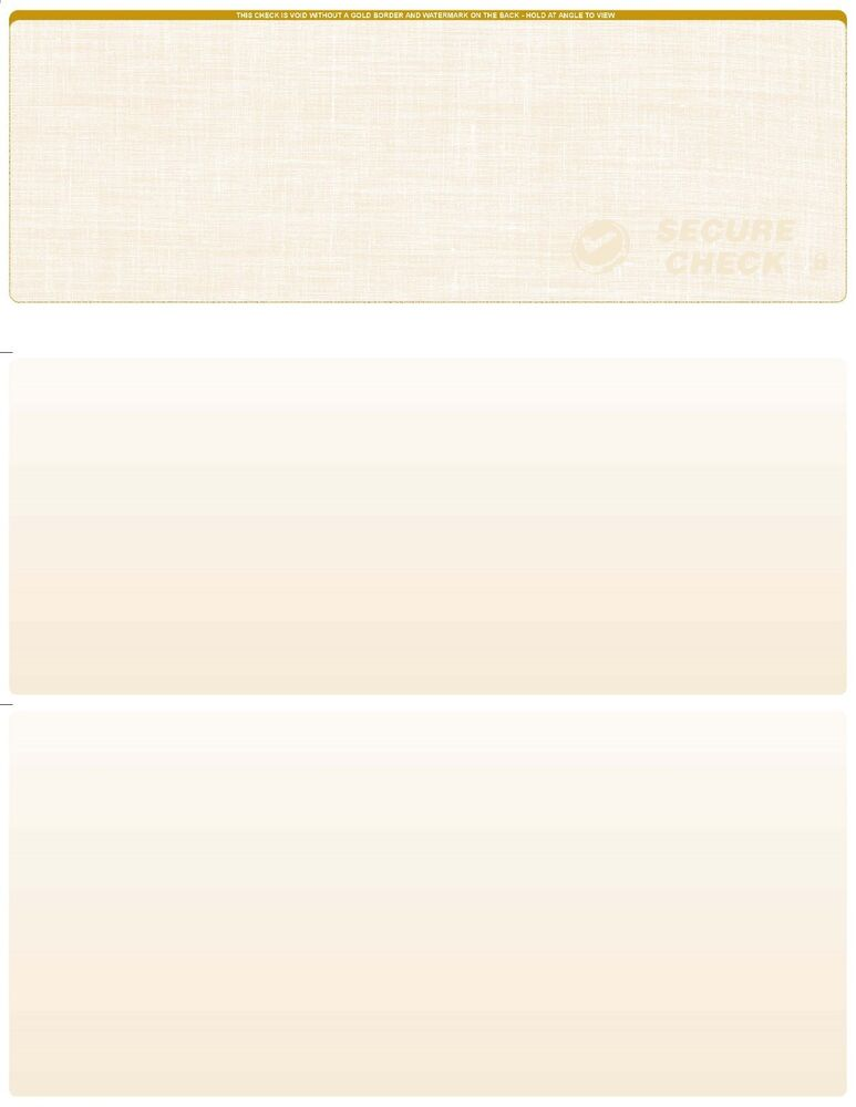 blank check paper Print your own checks using blank laser checks on top from checkomatic keep a clean record and save money bulk orders come with significant discounts.