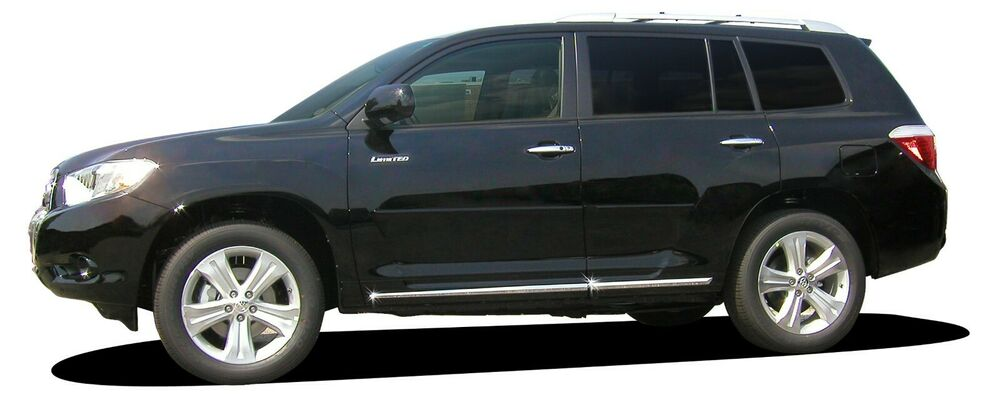Toyota Sequoia Chrome Body Side Molding 2008: For: TOYOTA HIGHLANDER; Body Side Moulding Moldings