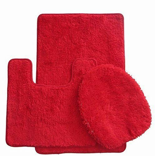 Plush Bathroom Rug Sets: Royal Plush 3-Piece Bathroom Rug Set, Bath Mat, Contour