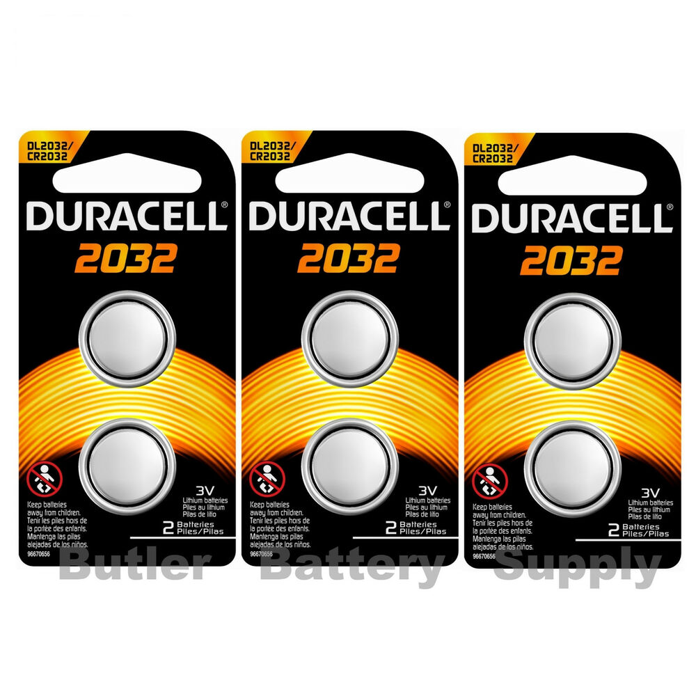 6 x 2032 duracell coin cell batteries lithium 3v. Black Bedroom Furniture Sets. Home Design Ideas