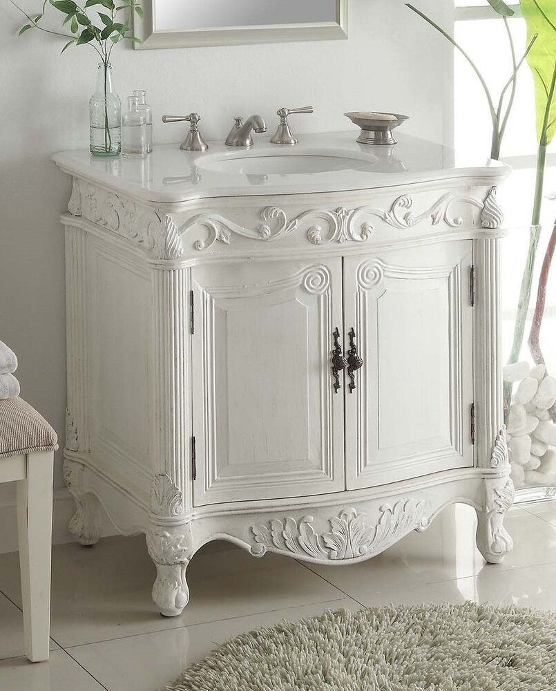 32 traditional style antique white fiesta bathroom sink - Spanish style bathroom sinks and vanities ...