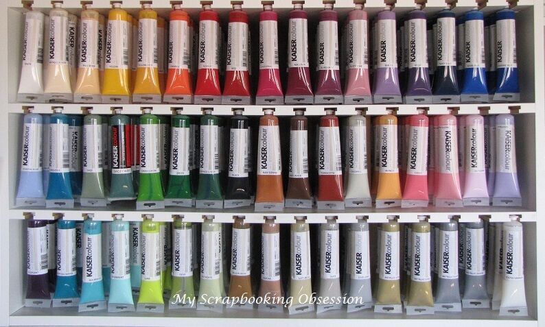Kaisercraft 39 kaisercolour 39 acrylic paints bulk lot x48 1 for Acrylic paint in bulk