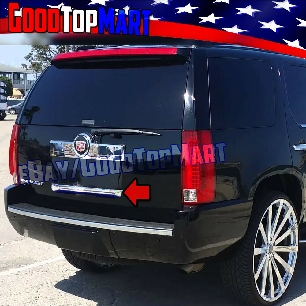 2010 Cadillac Escalade Esv Premium: For Cadillac Escalade ESV 2007-2013 Silver Chrome Tailgate Cover Trunk Lower 12