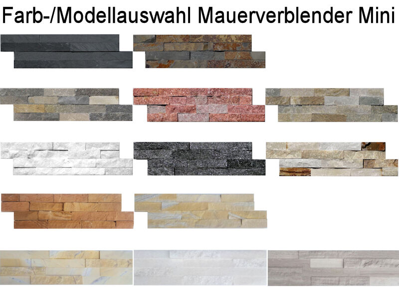 mini mauerverblender fliesen mosaik wandbereich kamin ebay. Black Bedroom Furniture Sets. Home Design Ideas