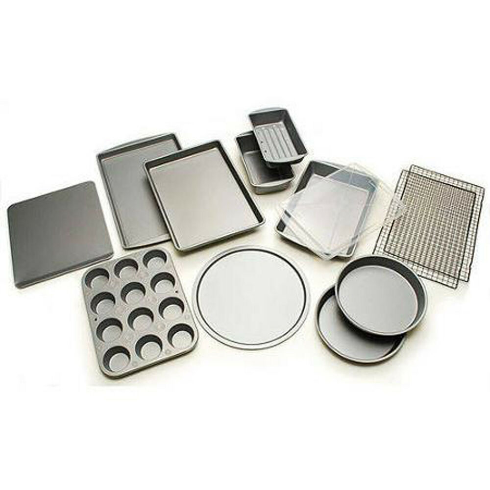 12 Piece Bakeware Set Non Stick Pizza Cookie Muffin Pan