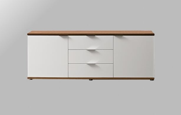 sideboard kommode schrank anrichte nussbaum wei 3. Black Bedroom Furniture Sets. Home Design Ideas