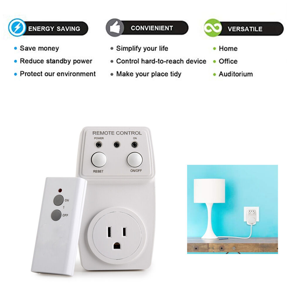 remote control outlet wireless ac power electrical light. Black Bedroom Furniture Sets. Home Design Ideas