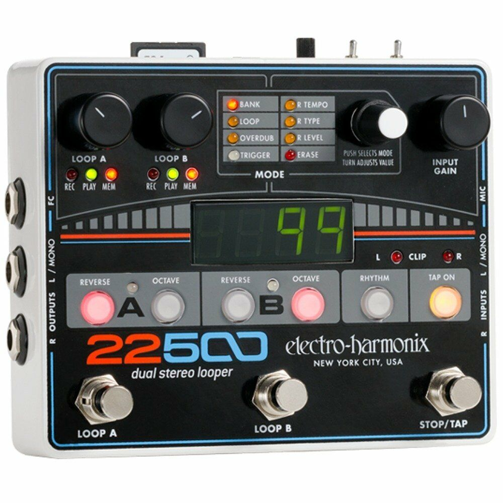 electro harmonix 22500 dual stereo loop guitar effect pedal with xlr mic input 683274010717 ebay. Black Bedroom Furniture Sets. Home Design Ideas