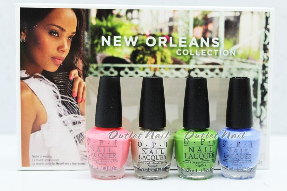 opi new orleans collection jambalayettes spring summer 2016 mini pack 4pc dcn23 ebay. Black Bedroom Furniture Sets. Home Design Ideas