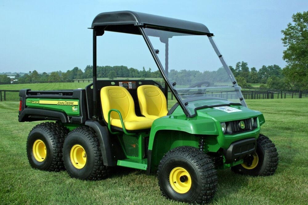 john deere gator 2010 2016 6x4 th frame roof windshield. Black Bedroom Furniture Sets. Home Design Ideas