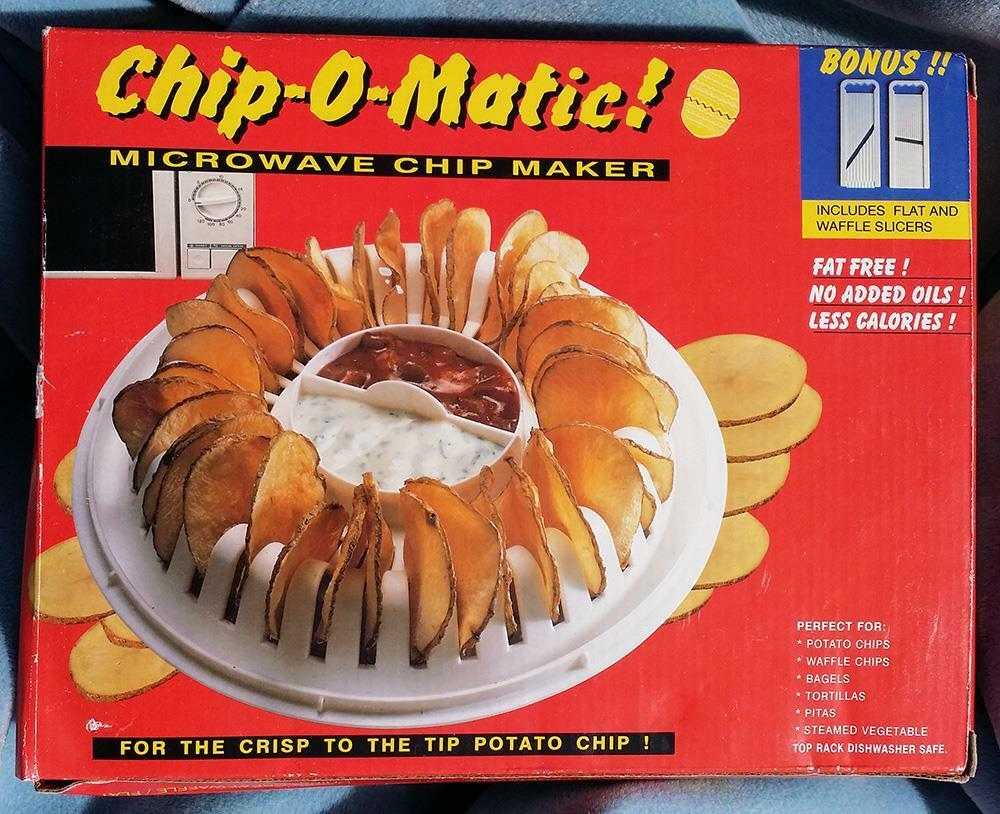 New In Box Chip O Matic 174 Microwave Potato Chip Maker Ebay