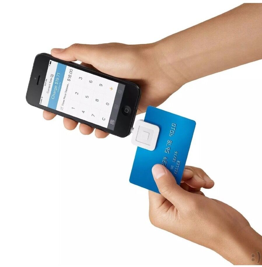 credit card swiper for iphone square credit card reader for iphone and android ebay 16844