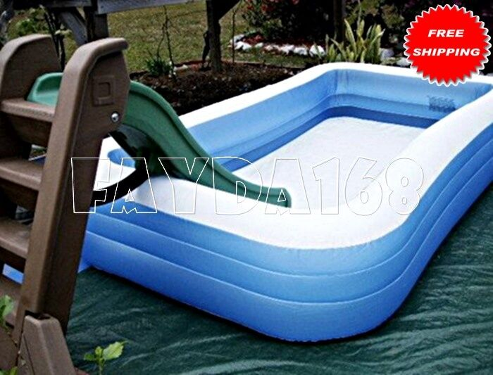 Large Family Inflatable Swimming Pool Center Water Giant Indoor Outdoor Kid Play Ebay