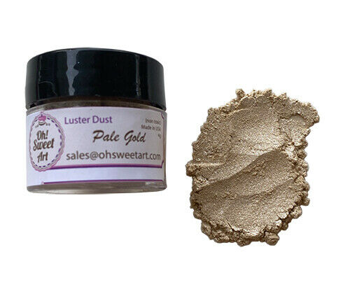 Gold Dust For Cake Decorating : Pale Gold Metallic Luster Dust for cake Food Fondant ...