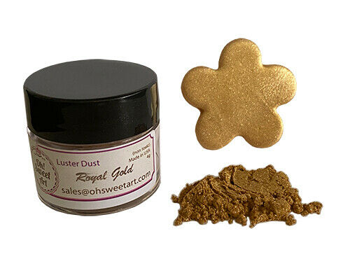 Gold Dust For Cake Decorating : Royal Gold Metallic Luster Dust for cake Food Fondant ...