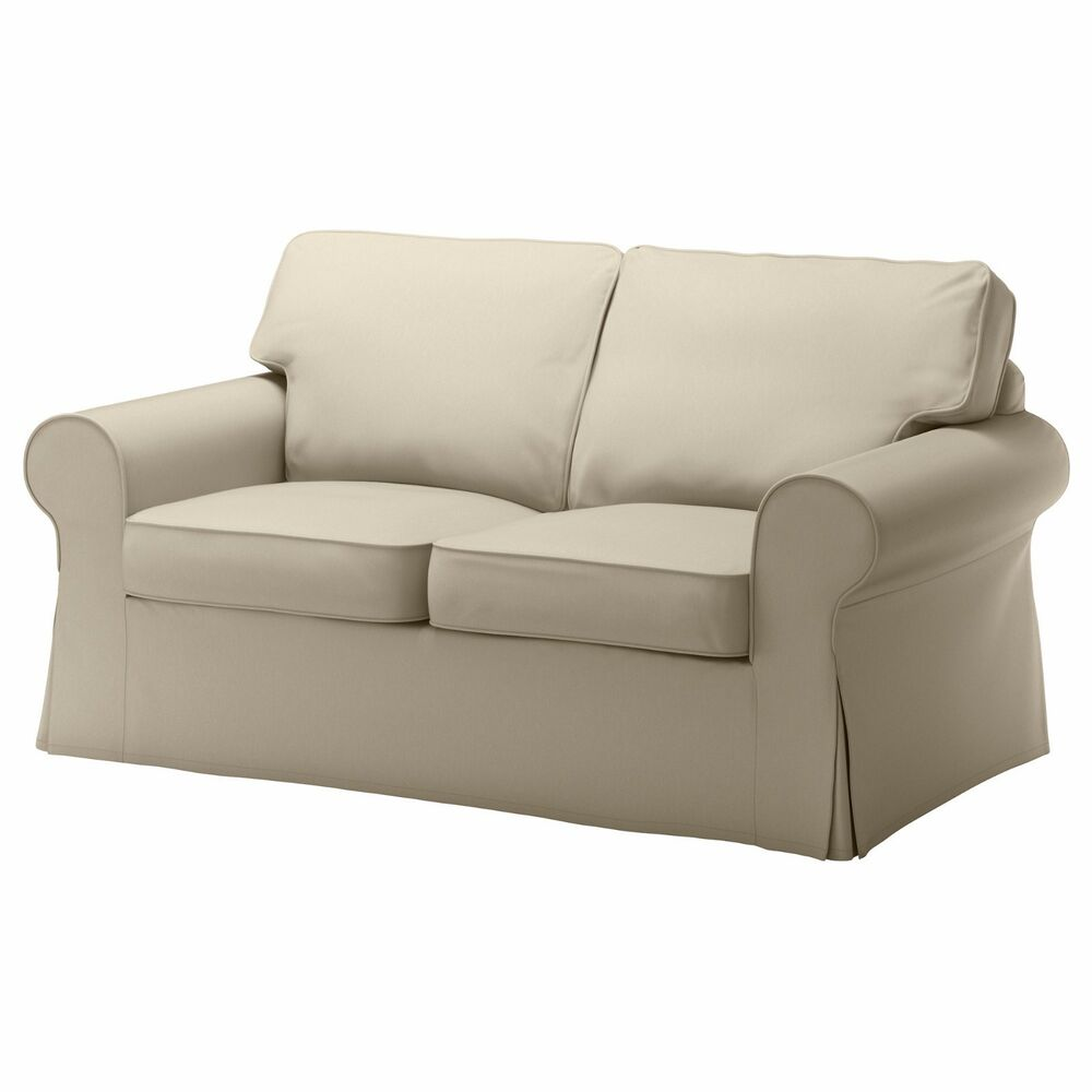 Ikea ektorp cover loveseat 2 seat sofa cover tygelsjo beige slipcover ebay Couch and loveseat covers
