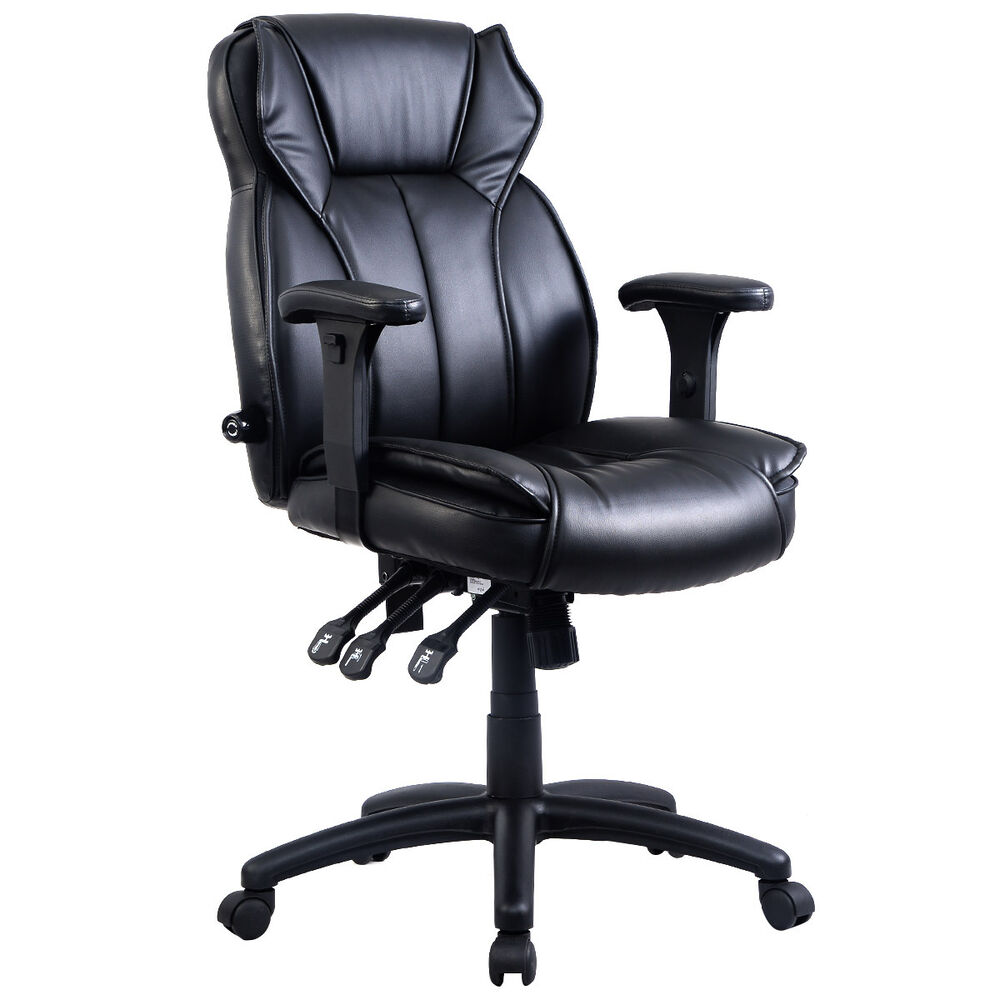 Goplus ergonomic pu leather high back executive computer for High back leather chairs