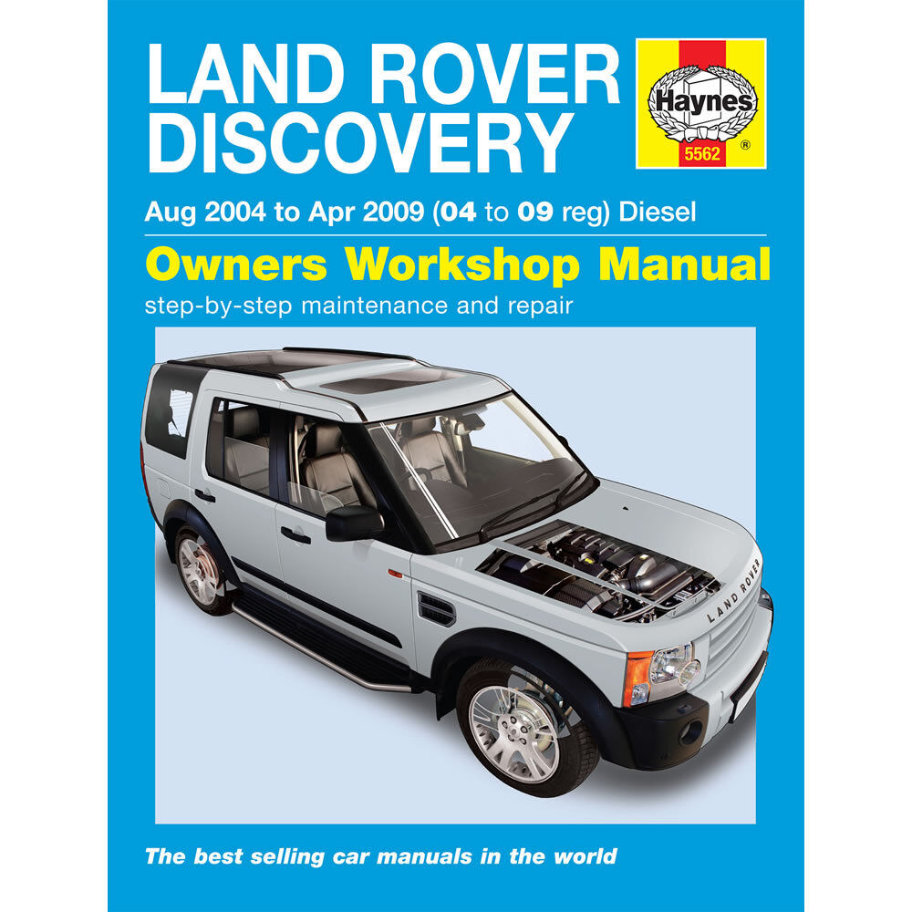 Land Rover Discovery Haynes Manual 2004-09 3 2.7 V6 Turbo
