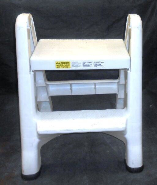 Rubbermaid Commercial 4209 Ez Step Stool 2 Step Foldable White Ebay