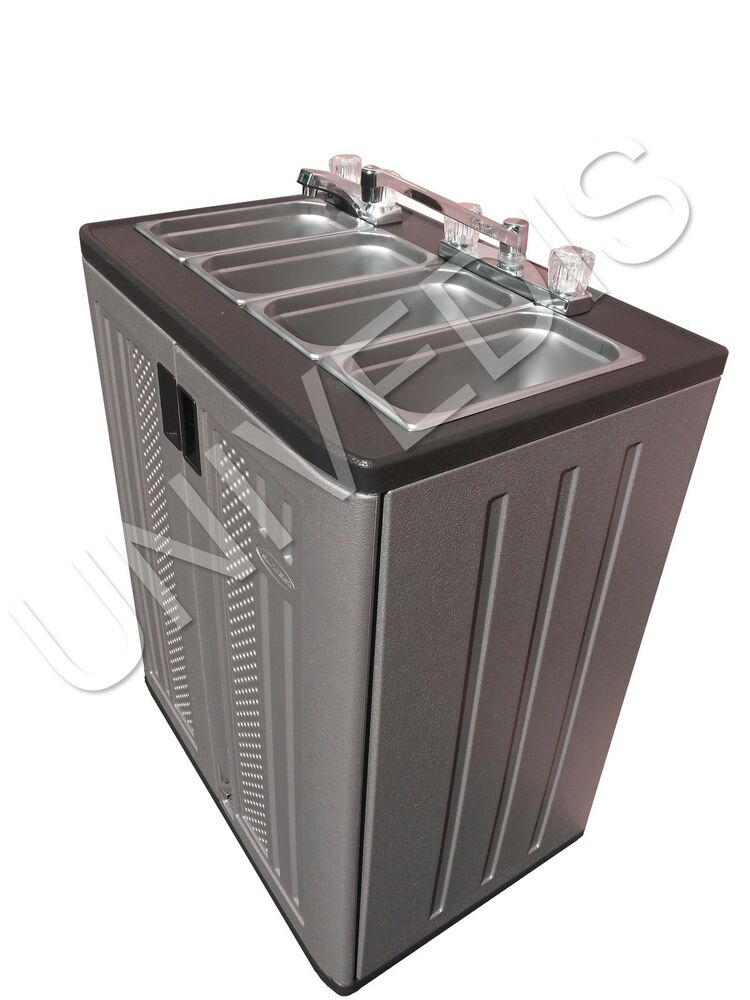 Portable Sink Mobile Concession Compartment Hot Water