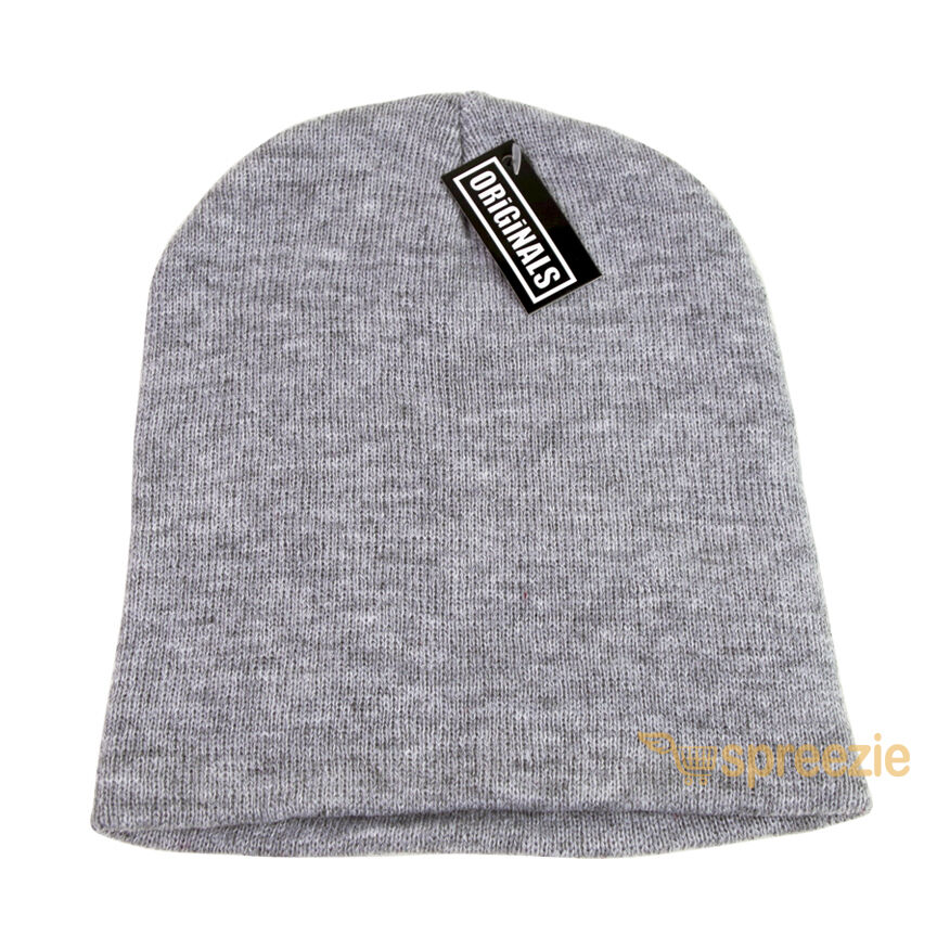 Details about Heather Grey Skull Cap Plain Beanie Knitted Ski Hat Skully  Warm Winter Solid New 3691160930c