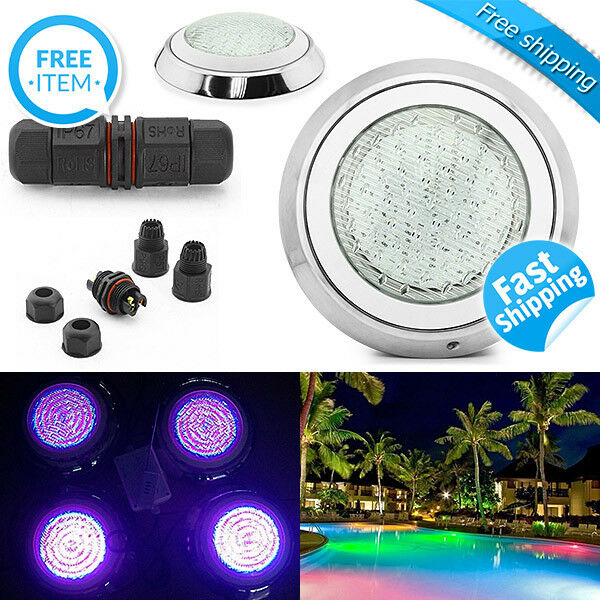 Led Swimming Pool Light Underwater Spa 45w Ip68 Rgb 7 Colors With Remote Control Ebay