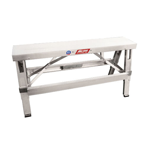 Wal Board Walk Up Folding Drywall Bench Adjustable Legs