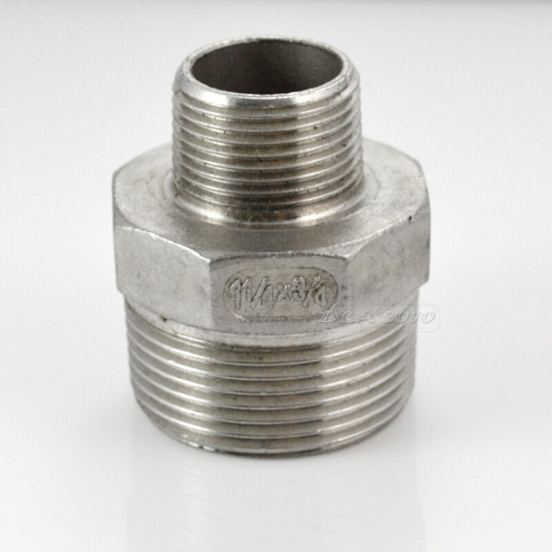 Quot x male hex nipple threaded reducer pipe fitting