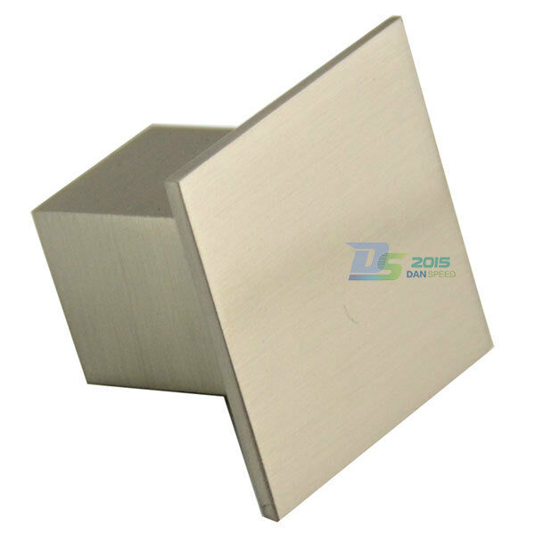 Square Stainless Steel Brushed Kitchen Cabinet Door Drawer