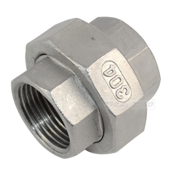 Quot malleable straight union coulping pipe fitting