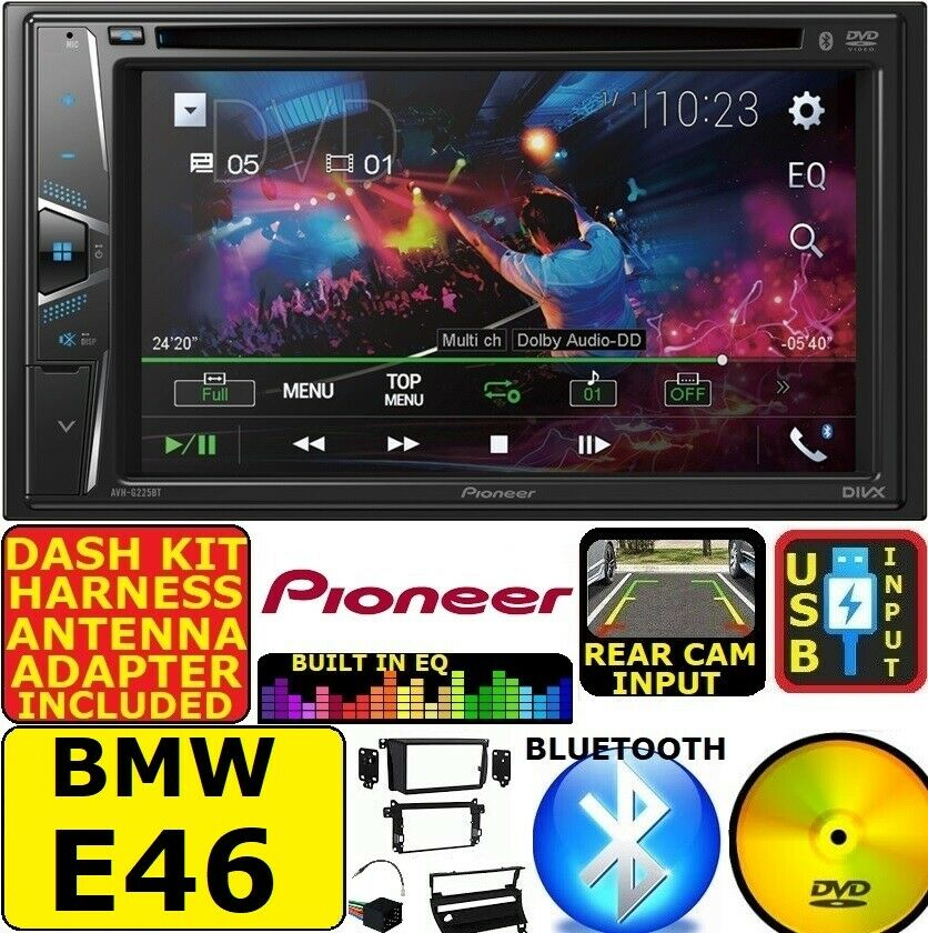 bmw e46 pioneer cd dvd aux usb bt bluetooth car stereo. Black Bedroom Furniture Sets. Home Design Ideas