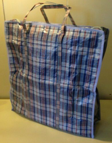 Set Of 3 Jumbo Storage Laundry Shopping Bags With Zippers