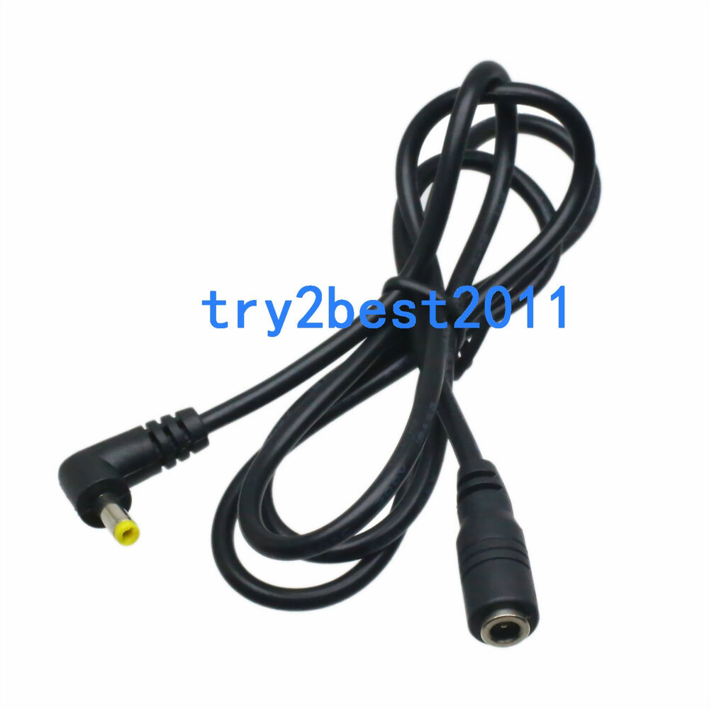 Dc Power Cable : Dc power plug mm male ra to female jack extension