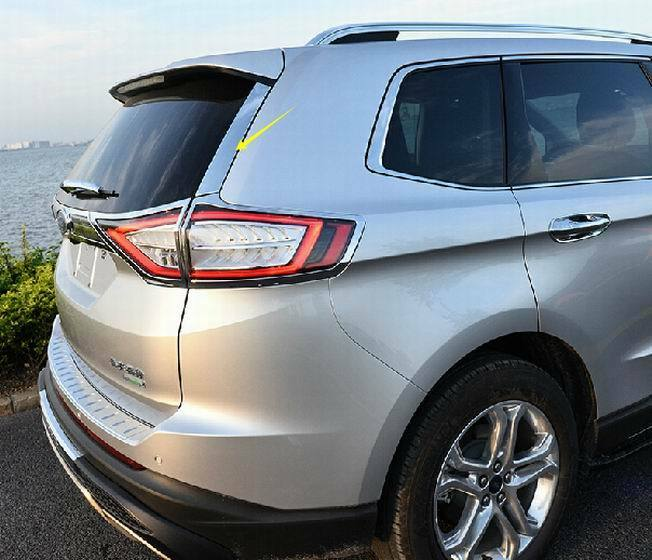 2pcs Stainless Rear Window Side Cover Molding Trim For Ford Edge 2015 2016 Ebay