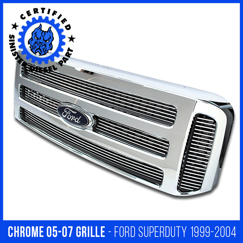 Ford CHROME Grille CONVERSION Fits 1999-2004 Super Duty 2005 2006 2007 F250 F350 | eBay