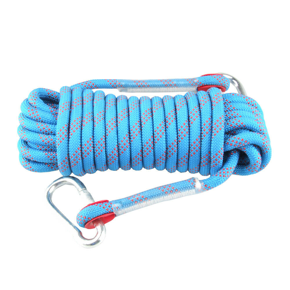 10M 12KN Static Rescue Rope Rock Climbing Rappelling Tree Arborist Cord