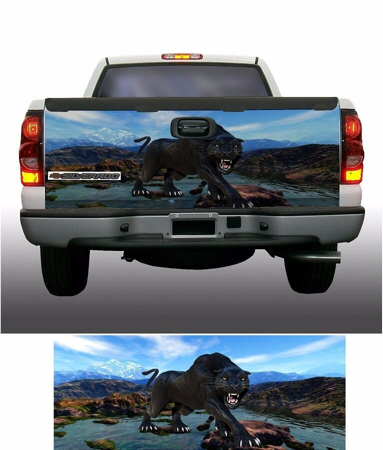 Truck Back Window Decals >> Mountain Panther truck tailgate vinyl graphic decal wraps ...