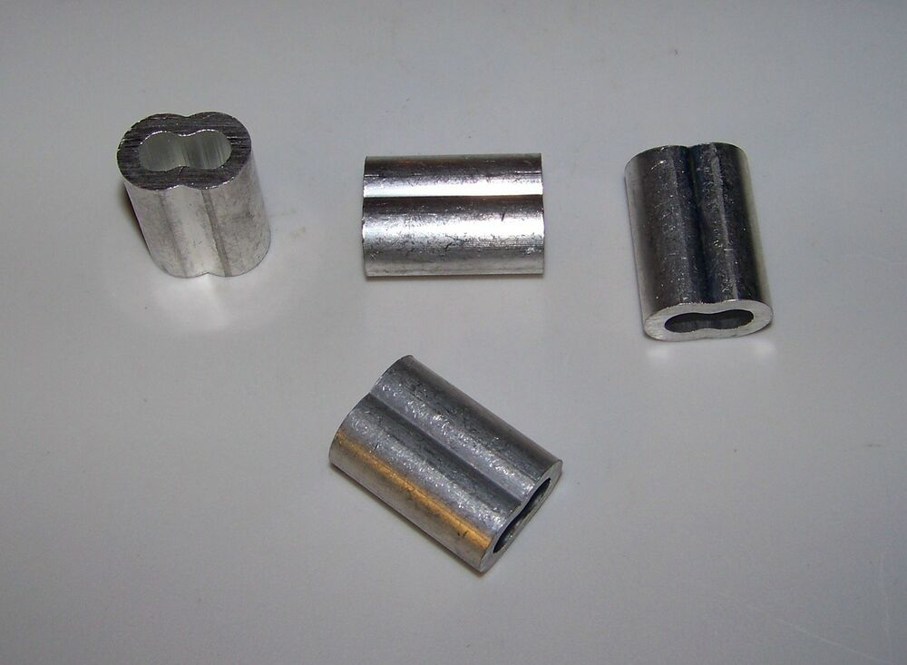 Quot aluminum cable crimps sleeves lot of new ebay