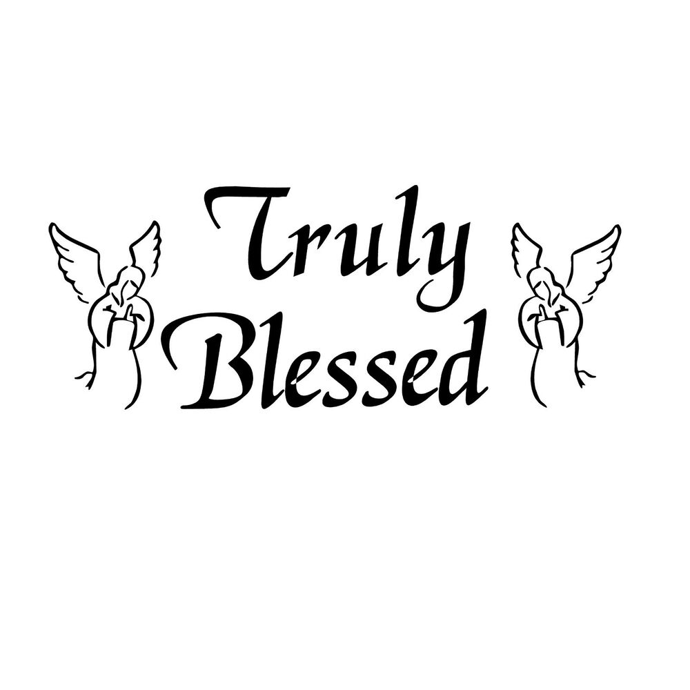 Truly Blessed Vinyl Wall Art Quote Decor Words Decals Sticker Ebay Circuit Board Tree Graphic Stickers